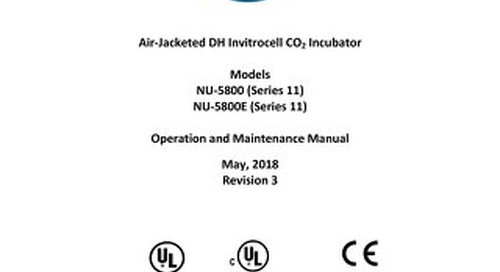 [Manual] In-VitroCell NU-5800 Direct Heat CO2 Incubator