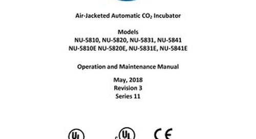 [Manual] In-VitroCell NU-5810, NU-5820, NU-5831, NU-5841 Direct Heat CO2 Incubator