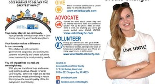 Door County United Way Brochure