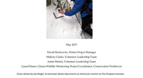 2016-2017 CWMP Winter Snow Tracking Report FINAL