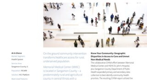 Access to Care Plus Measurable Community Improvement