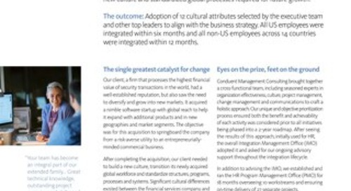 Financial Services Organizational Culture Change