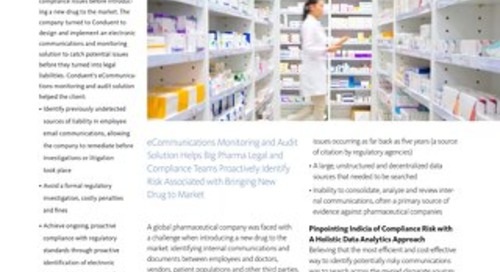 Global Pharmaceutical Manufacturer Legal Compliance