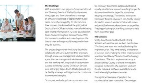 Shelby County Court eFiling Solution