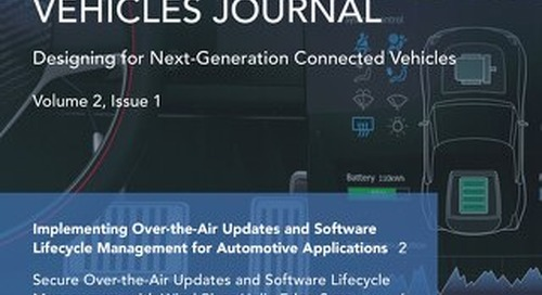 Connected Vehicles Journal - Volume 2, Issue 1