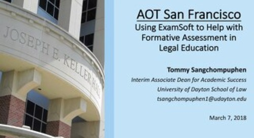 AOT San Francisco — Formative Assessment for Legal Education