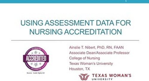 AOT San Francisco — Using Assessment Data for Nursing Accreditation