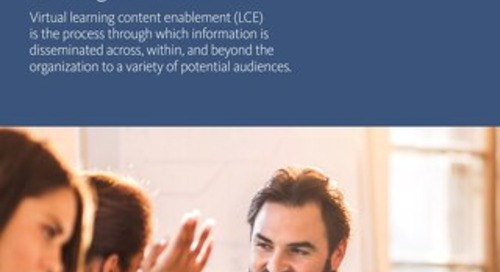 Enabling Virtual Learning Content for Employees