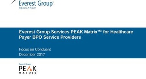 Everest Group PEAK Matrix for Healthcare Payer BPO Service Providers