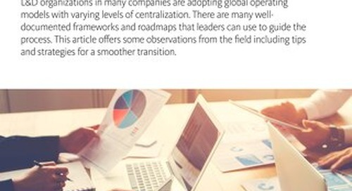 Transforming The L&D Function In A Global Enterprise