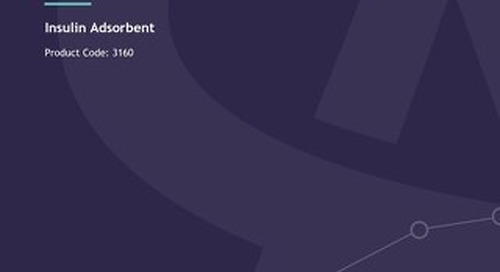 Insulin Adsorbent - Brochure