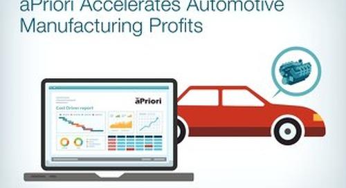 aPriori Accelerates Automotive Manufacturing Profits