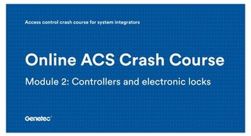 Module 2: Controllers and electronic locks (Presentation)