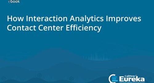 Interaction Analytics Improves Contact Center Efficiency eBook