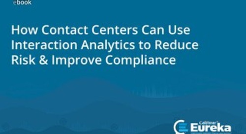How US Contact Centers Can Use Interaction Analytics to Reduce Risk & Improve Compliance eBook