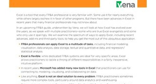 Executive Summary: Making Excel Work for FP&A