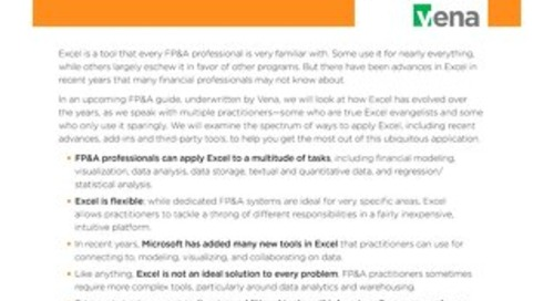Making Excel Work for FP&A - Executive Summary