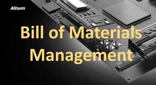 Bill of Materials Management