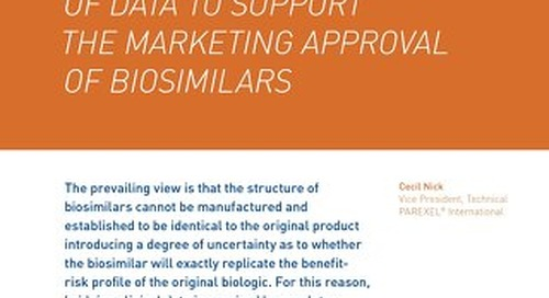 Optimizing Clinical Trials As Part Of The Totality Of Data To Support The Marketing Approval Of Biosimilars
