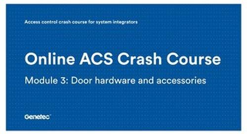 Module 3: Door hardware and accessories (Presentation)