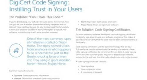 DigiCert Code Signing: Instilling Trust in Your Users