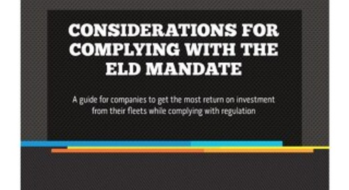 Considerations for Complying with the ELD Mandate