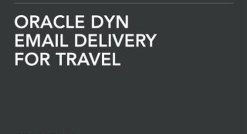 Solution Brief: Email Delivery for the Travel Industry