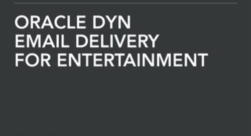 Solution Brief: Email Delivery for the Entertainment Industry