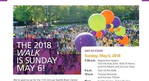 2018 Seattle Brain Cancer WalkTalk