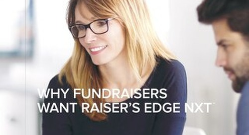 Why Fundraisers want Raiser's Edge NXT - Whitepaper