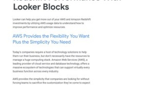 Looker Blocks Suite for AWS