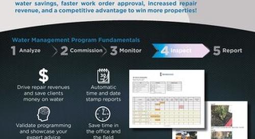 Weathermatic's SmartLink Irrigation Inspector Sales Sheet