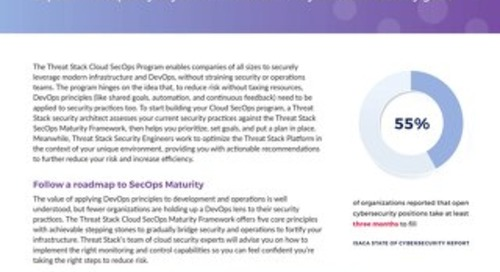 Threat Stack Cloud SecOps Program℠ Datasheet