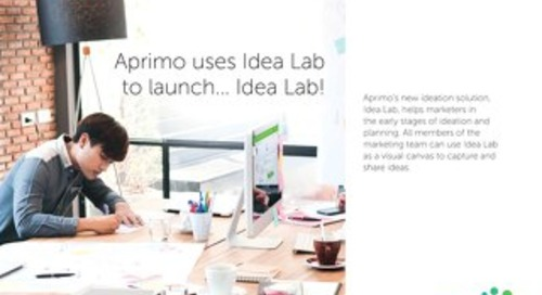 Aprimo uses Idea Lab to launch... Idea Lab!