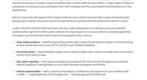 AWS Redshift Administration and Optimization