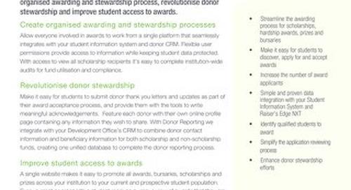 Datasheet: Blackbaud Award Management