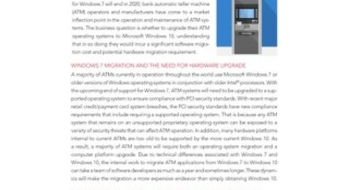 Windows 7 Migration Options for Bank ATM