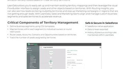 Territory Management Datasheet