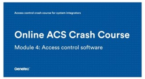Module 4: Access control software (Presentation)