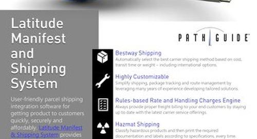 Latitude Manifest & Shipping System Data Sheet