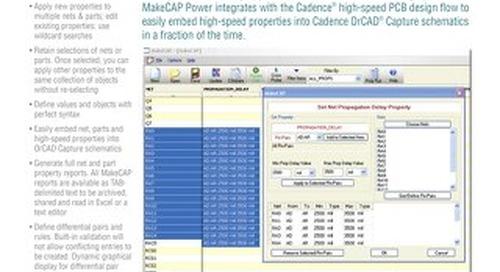 MakeCAP Power Property Editor