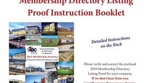 2018 ABC Member Directory Instruction Pages