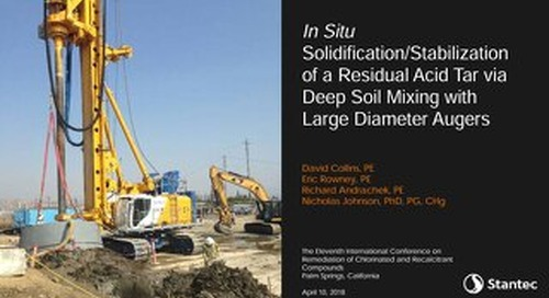 In Situ Solidification / Stabilization of Residual Acid Tar, Presentation by David Collins @ Battelle