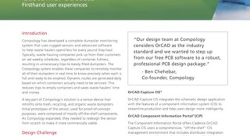 Compology Selects OrCAD for Revolutionary Garbage Sensor System