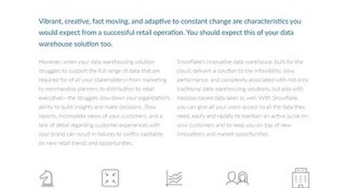 Snowflake Retail Solution Brief