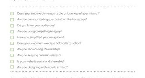 Nonprofit Website Checklist: Can you check all 10?