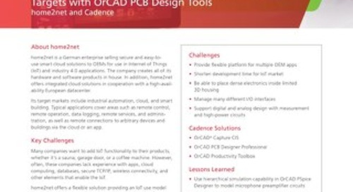Home2Net: Meeting Board Space Constraints and Time-to-Market Targets with OrCAD PCB Design Tools