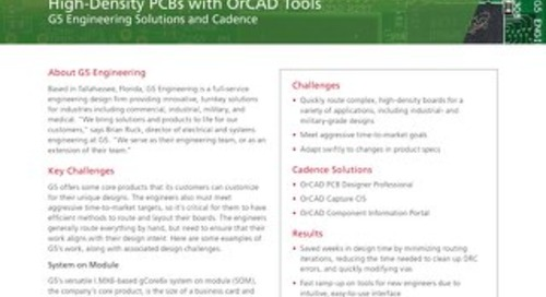 Minimizing Routing Iterations on Complex, High-Density PCBs with OrCAD Tools