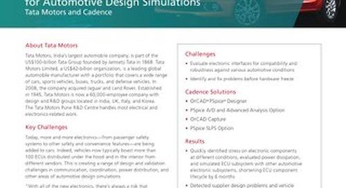 Tata Motors Standardizes on PSpice Technology for Automotive Design Simulations