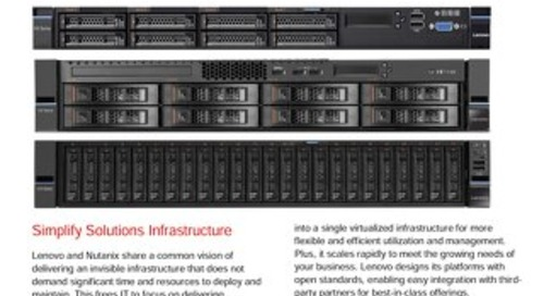 Reference Architecture for Lenovo Converged HX Series Nutanix Appliances